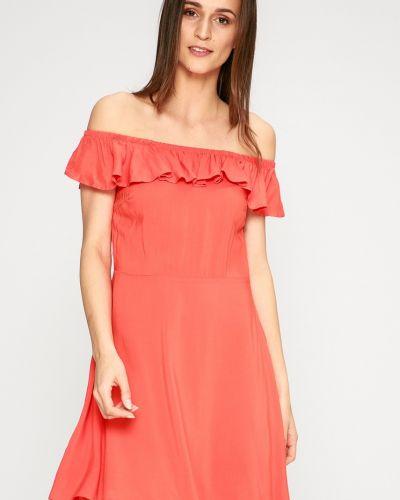 Платье мини в полоску с оборками Answear