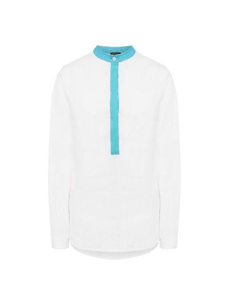 Льняная рубашка - белая Kiton