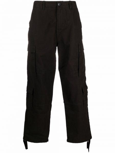 Брюки карго с карманами - черные Stussy