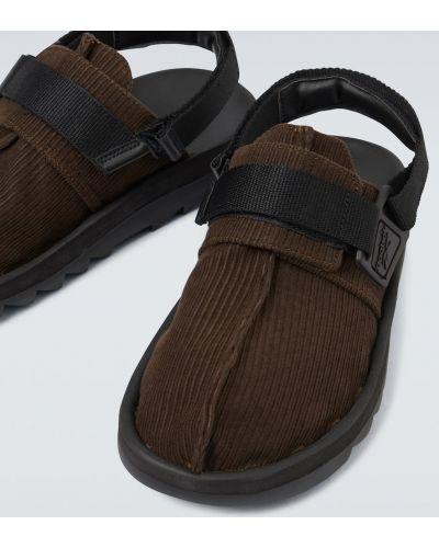 Brązowy zamsz z paskiem sandały na paskach Reebok