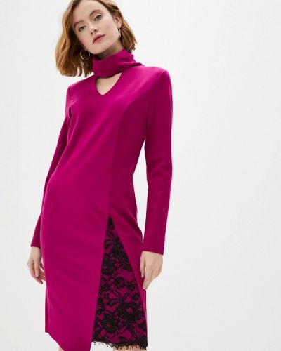 Повседневное розовое платье Adzhedo