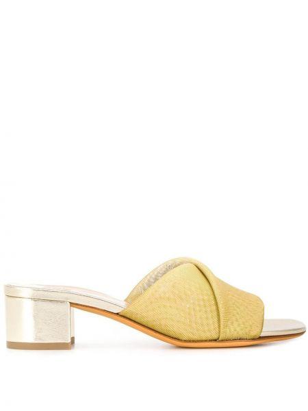 Желтые мюли на каблуке Maryam Nassir Zadeh
