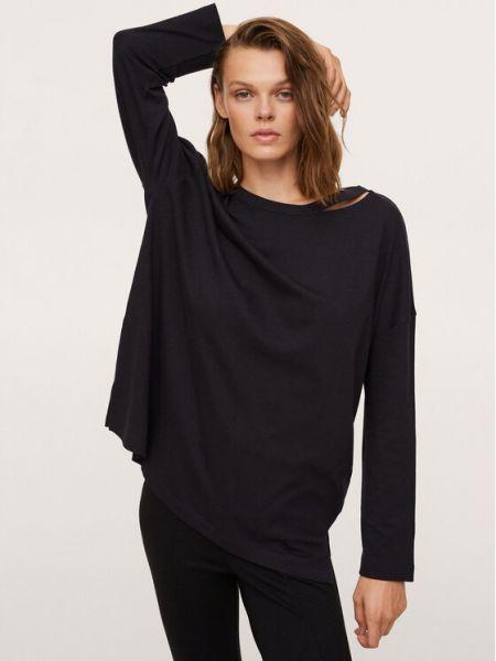 Czarna bluzka oversize Mango