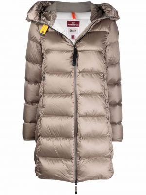Коричневое пальто длинное Parajumpers