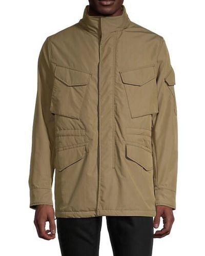 Długa kurtka z kapturem bawełniana z długimi rękawami Rag & Bone