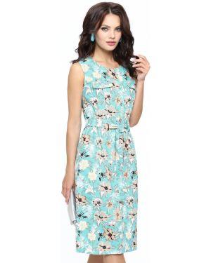 Летнее платье деловое с поясом Dstrend