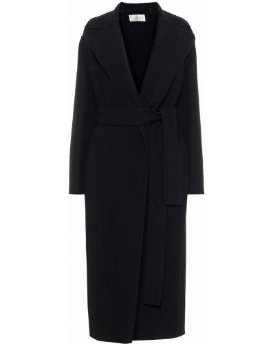 Черное шерстяное пальто The Row