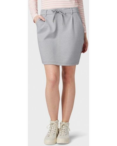 Джинсовая юбка карандаш серая Tom Tailor Denim