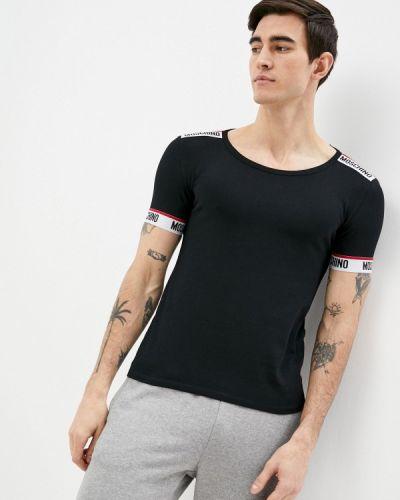 Черная футболка Moschino Underwear
