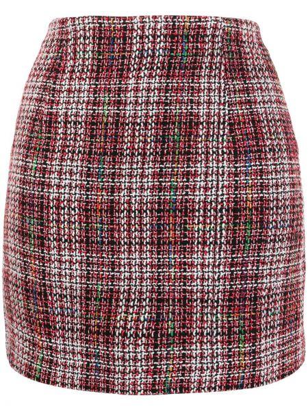 Красная с завышенной талией юбка мини на молнии твидовая Jovonna