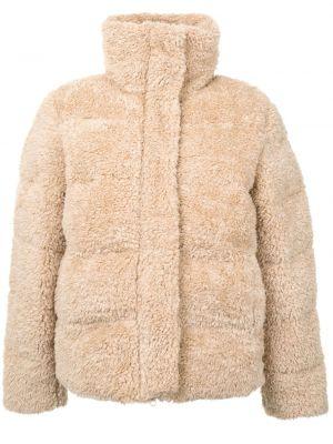 Brązowa długa kurtka z długimi rękawami Unreal Fur