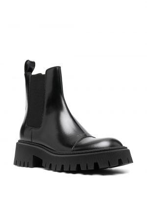 Кожаные черные ботинки челси круглые Balenciaga