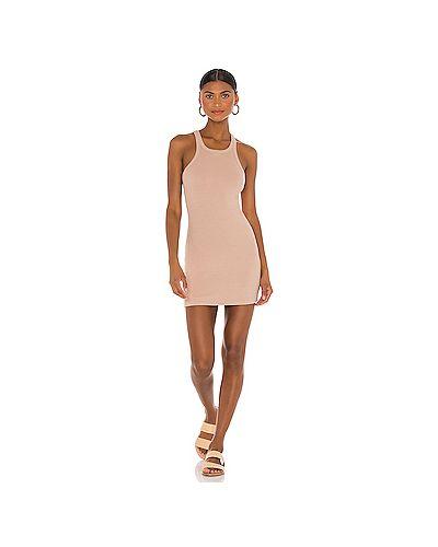 Шелковое платье в рубчик с подкладкой Lna