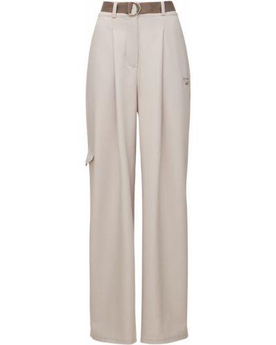 Бежевые брюки с поясом Reebok Classics