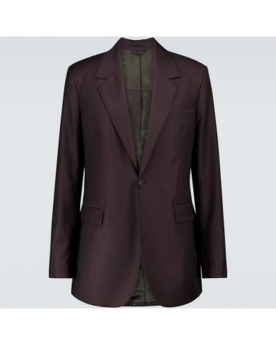 Шерстяной однобортный малиновый пиджак Acne Studios