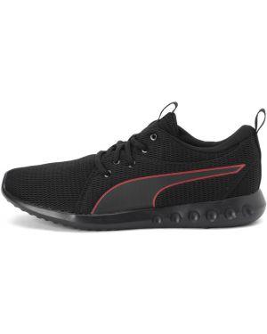 Мягкие спортивные текстильные черные кроссовки беговые Puma