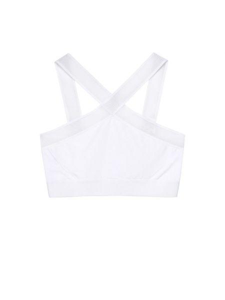 Белый текстильный тренировочный топ на бретелях с перфорацией Heroine Sport