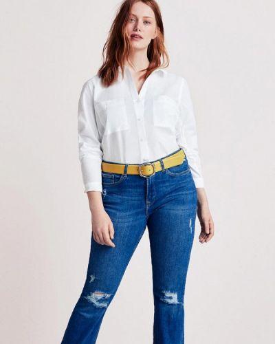 Белая рубашка с длинным рукавом Violeta By Mango