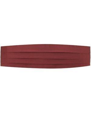 Красный с ремешком шелковый камербанд Brioni