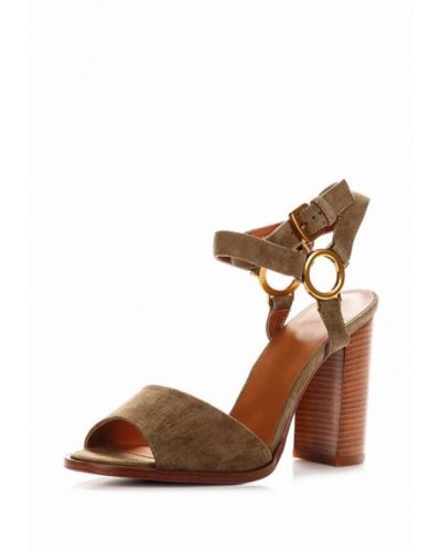 Босоножки на каблуке замшевые Blizzarini