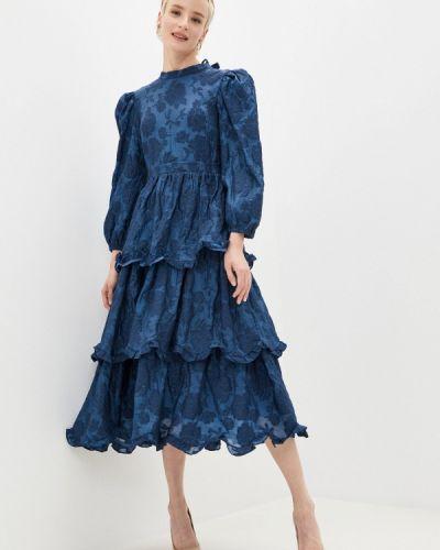 Прямое синее платье Sister Jane