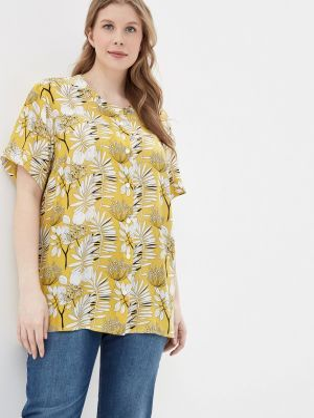 Блузка весенний желтый Intikoma