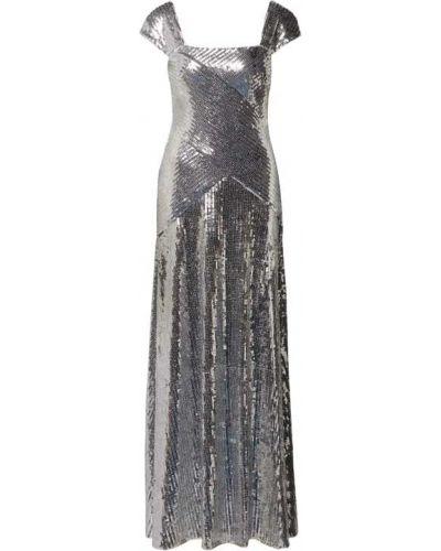 Sukienka wieczorowa z cekinami srebrna Lauren Ralph Lauren
