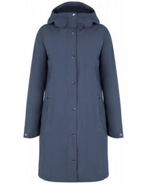 Спортивная синяя длинная куртка Columbia