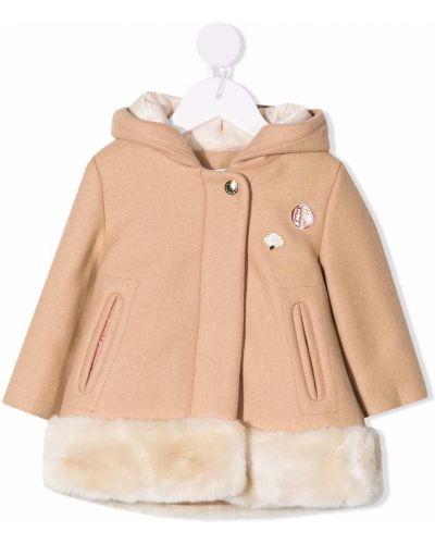 Beżowy klasyczny płaszcz Chloé Kids