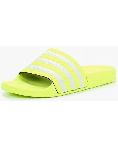 Желтые сланцы Adidas Originals