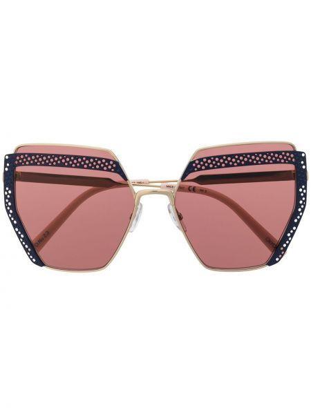 Розовые солнцезащитные очки металлические оверсайз Oxydo