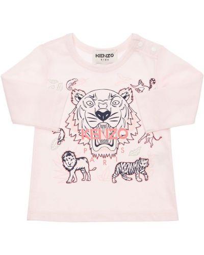 Лонгслив с принтом - розовая Kenzo Kids