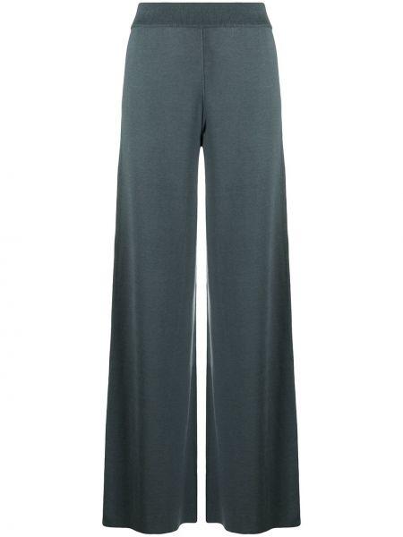 Prążkowane spodnie z wysokim stanem z jedwabiu Maison Ullens