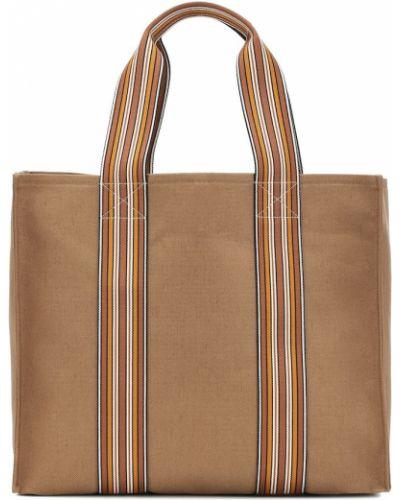 Ватный хлопковый коричневый чемодан Loro Piana