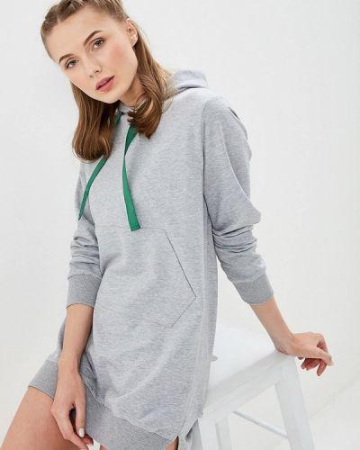 Платье серое платье-толстовка Maria Rybalchenko