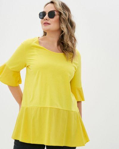 Желтая блузка с короткими рукавами Sophia