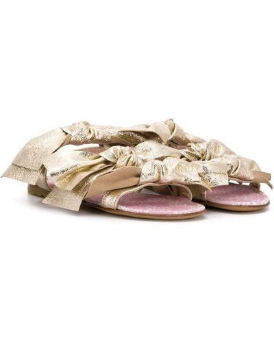 Кожаные открытые босоножки с открытым носком Simonetta