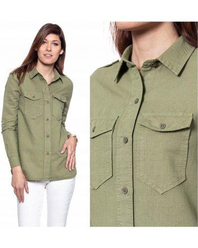 Koszula materiałowa - zielona Wrangler