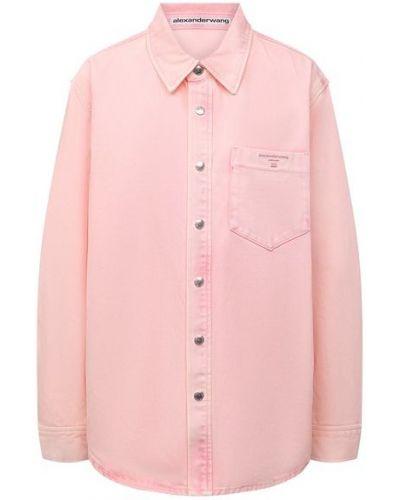 Джинсовая рубашка - розовая Alexander Wang