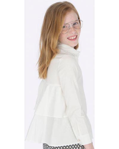 Блуза бежевая на пуговицах Mayoral