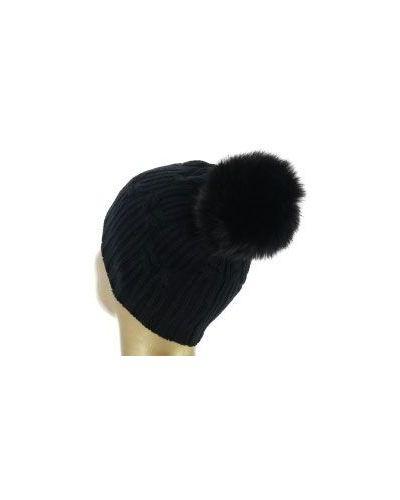 Черная шапка кашемировая Fedeli
