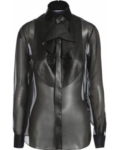 Черная блузка с жабо Ralph Lauren