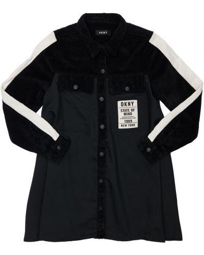 Черная рубашка с аппликацией Dkny