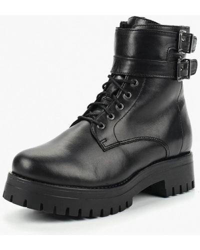 Кожаные ботинки на каблуке осенние Dali