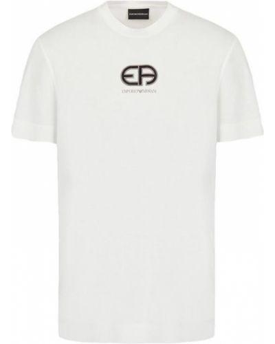 T-shirt z haftem Emporio Armani
