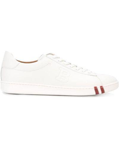 Кеды белые кожаный Bally
