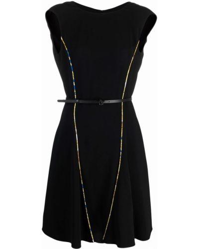 Кожаное платье - черное Versace