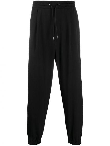 Prążkowane czarne spodnie wełniane Mcq Alexander Mcqueen