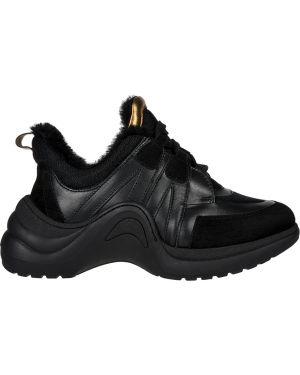 Кожаные кроссовки - черные Nila & Nila