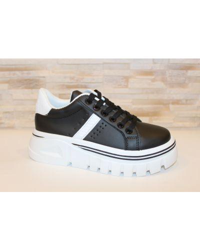 Кожаные кроссовки - черные Loretta